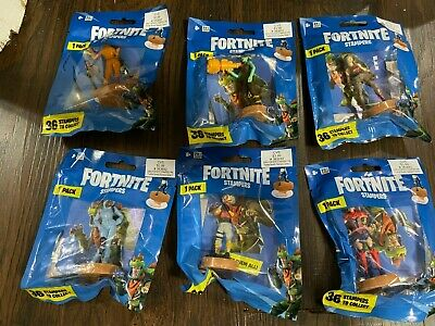 $ CDN18.19 • Buy Lot Of 6 Fortnite Stampers 6 Packs Of Action Figures NEW In Package Crackshot +