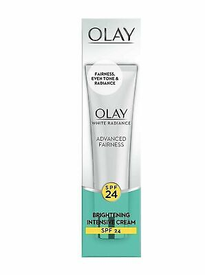 AU18.69 • Buy Olay White Radiance Advanced Fairness Brightening Intensive Cream SPF 24 | 20gm