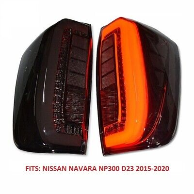 AU270 • Buy New Pair Smoked Led Tail Lights For Nissan Navara Np300 D23 2015-2020