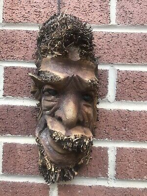 £19.99 • Buy ChiselCraft L Wooden Root Tree Spirit Face Green Man In Or Out Carving Wood 14