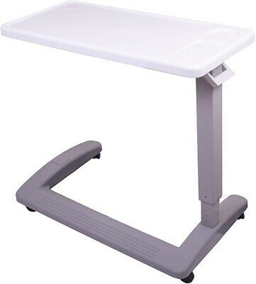 $127.27 • Buy Overbed Table Swivel Wheels Hospital Adjustable-Height Extra-Large Cup Holder