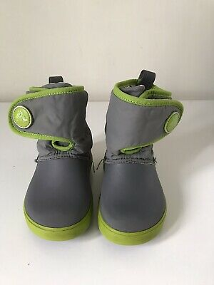 CROCS Grey Wellies Boots Size C9 - Toddler • 5.50£