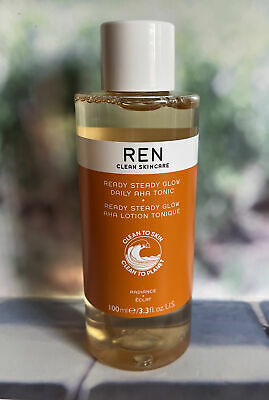 REN Clean Skincare Ready Steady Glow Daily AHA Tonic 100ml New *FAST POST* • 11.99£