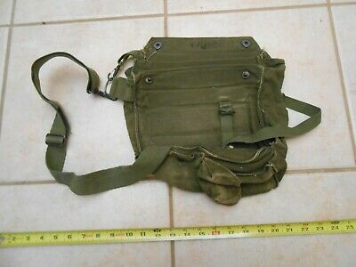 $14.99 • Buy Rare Vintage Military Protective Field Mask / Canvas Bag M17a1-usa Army Satchel