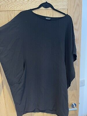 Black Straight Batwing Dress Size L • 0.99£