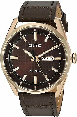 $ CDN99.59 • Buy Citizen Eco-Drive Men's Rose Gold-Tone Day/Date Display 42mm Watch AW0083-08X