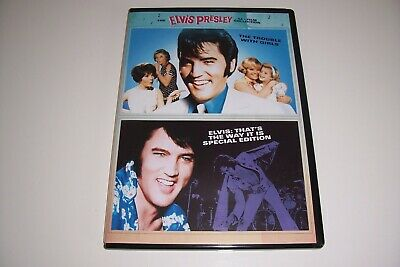ELVIS PRESLEY The Trouble With Girls & That's The Way It Is  ( PAL UK 2 FILM   • 18.92£