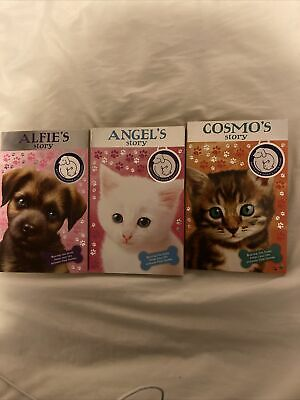 3 X Battersea Dogs And Cats Home Books Cosmo's Story Angels Story Alfie's Story • 1.30£