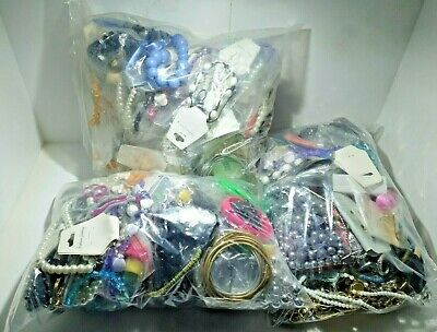 1KG Job Lot Costume Jewellery Mixed Bundle Upcycle Resell Resale Free UK P&p New • 10£