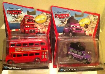 $ CDN48.48 • Buy DISNEY PIXAR Cars Double Decker Bus & Kimura Kaizo DELUXE SIZE NEW IN BOX