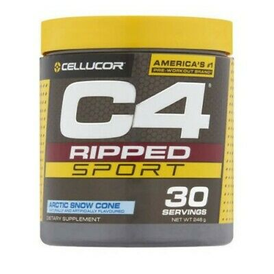 AU32.95 • Buy Cellucor C4 Ripped Sport Pre Workout Artic Snow Cone 30 Servings