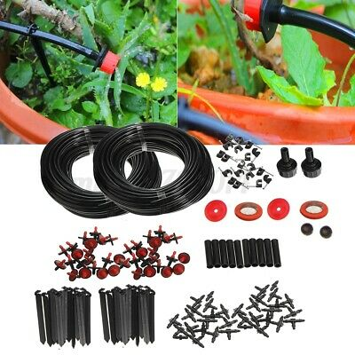46m Micro Drip Irrigation Watering Automatic System For Plant Garden  • 10.28£