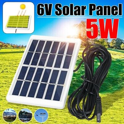 5W 6V USB Solar Panel Tablet Phone Charger Portable Camping Hiking Outdoor Kit • 6.83£