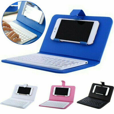 4.5-6.8'' Wireless Keyboard Stand Case For IPhone Samsung Huawei Smart Phones UK • 10.49£