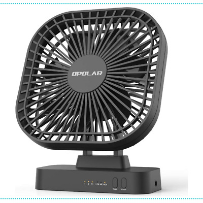 AU44.18 • Buy Fan Desk Timer USB AA Battery Operated 3 Speed Extra Quiet 7 Blade Design 5 Inch