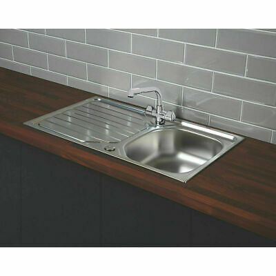 FRANKE RENO  STAINLESS STEEL INSET  1 BOWL SINK  860 X 500mm • 61.99£