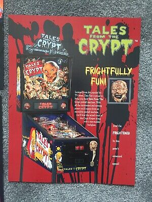 Tales From The Crypt Data East 1992 Original Pinball Flyer Mint. • 9£