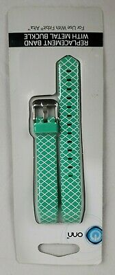 AU12.35 • Buy NEW ONN Replacement Band - Fitbit Alta Mint Green/ White Design W/ Metal Buckle