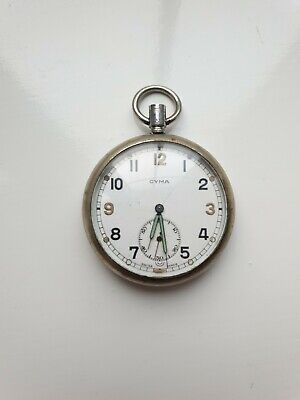 WW2 Cyma GSTP Pocket Watch Broad Arrow, Spares Or Repairs • 19.30£