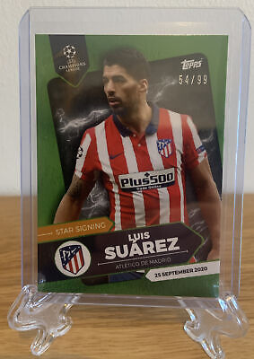 2020 Topps Champions League Summer Signing Green Luis Suarez /99 • 0.99£