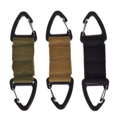 Military Key Hook Webbing Molle Buckle Outdoor Hanging Belt Prof H2W2 • 2.08£