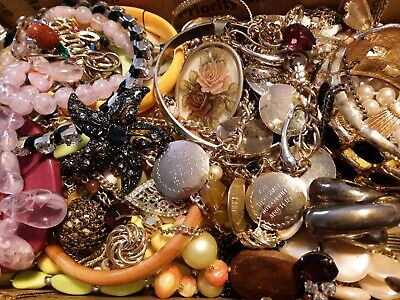 $ CDN18.98 • Buy #5 Vintage To Now Estate Find Jewelry Lot Junk Drawer Unsearched Untested Wear