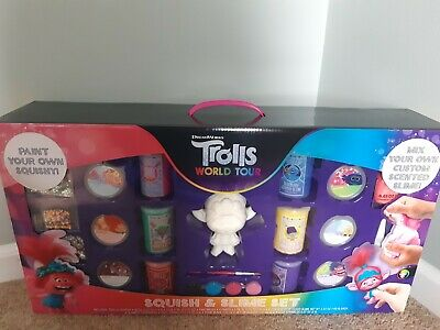 AU32.05 • Buy Trolls World Tour Squish And Slime Set Dreamworks Paint Your Own Squishy Toy