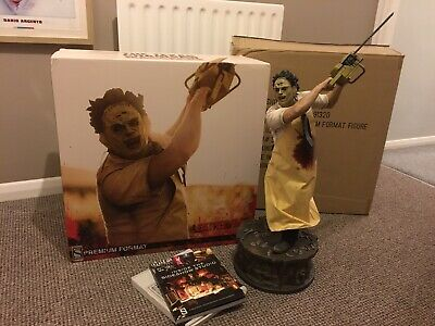 Sideshow Leatherface Premium Format. Original Box & Shipping Box + Book! • 700£
