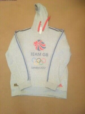 ADIDAS Hoodie Team GB London 2012 Grey Size M Used Cotton/polyester Tracksuit Tp • 8.99£