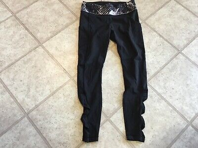 $ CDN50 • Buy Lululemon Black Ruched Leg Tight Size 8