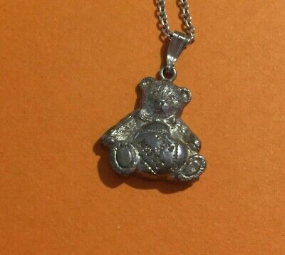 Vintage Sterling Silver 'tatty Teddy' Me To You Bear Necklace • 6.50£