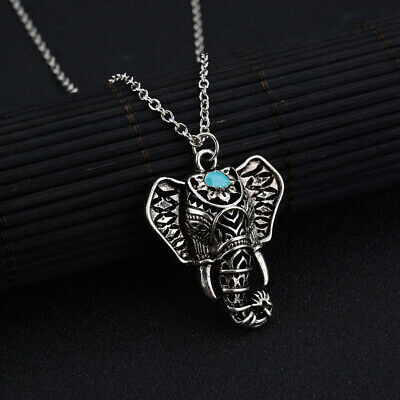 £3.75 • Buy Elephant Head Pendant Necklace Long Necklace Antique Silver Valentines Gift Item