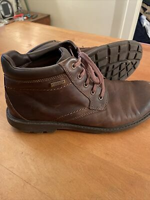 ROCKPORT Rugged Bucks WATERPROOF LEATHER V75403 Boots Men's Size 10 M Brown • 33.59£