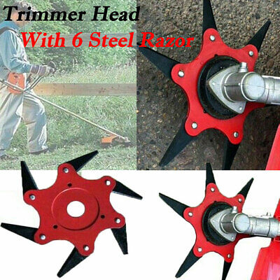 AU12.99 • Buy 6 Steel Blades Razors 65Mn Lawn Mower Trimmer Head Grass Weed Eater Brush Cutter