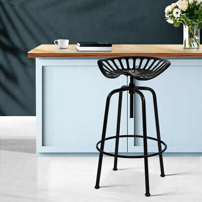 AU119.95 • Buy Vintage Kitchen Tractor Stool Industrial Retro Swivel Chair Adjustable Height