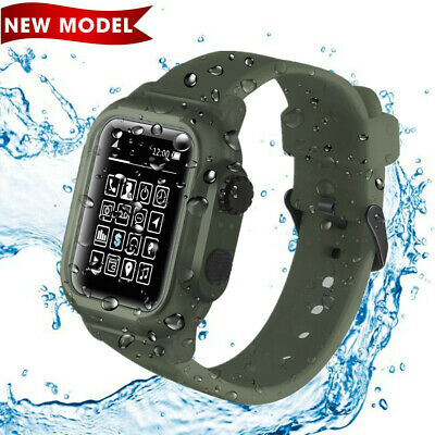 $ CDN25.25 • Buy Waterproof Case For Apple Watch 44mm Series 4/5,iWatch 44mm Protective Case Band