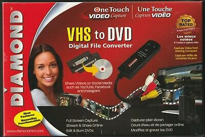 AU70 • Buy Diamond One Touch VHS To DVD Digital Video Audio File Converter - BRAND NEW!!!