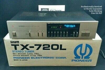 Pioneer TX-720L Tuner WORKING & SERVICED FM AM Radio Vintage Blue Line 1980s • 129.95£