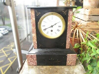 Antique French Marble / Slate Mantal Clock H. Walford & Son Paris  • 19.99£