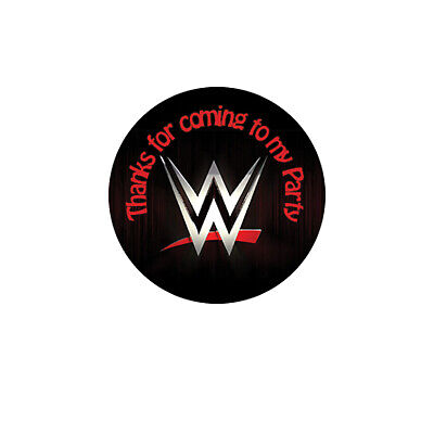 WWE Birthday Party Sticker, Thank You, Sweet Cone Labels 12,15 Or 35 • 3.30£