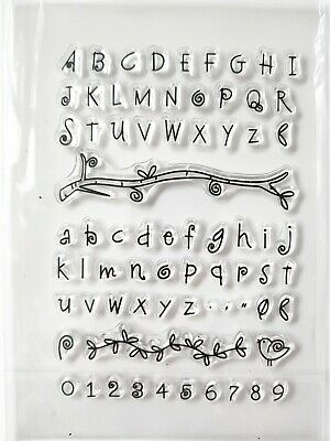 Alphabet And Number Clear Stamp Set, Upper, Lower Case, Punctuation, Flourishes • 4.99£