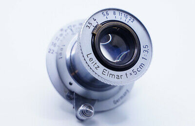 Leica Leitz Elmar 50mm (5cm) F3.5 Red Scale Chrome L39 LTM Lens • 249£