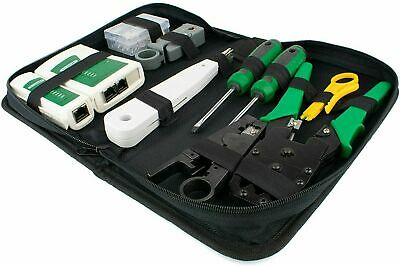 TESTER TOOL KIT | Networking RJ45 Connectors Crimper Punch Down Stripper Cable • 9.75£
