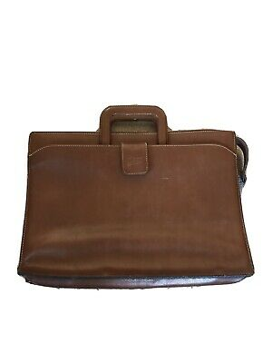 Texier Brown Leather Briefcase • 10£