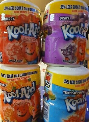 2x Kool Aid Cherry, Strawberry, Grape&Orange. You Choose 2 Flavours. 538g.  • 13.99£