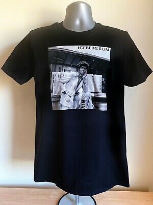 ICEBERG SLIM T-SHIRT - Author And Influence On Ice T, Ice Cube And Irvine Welsh • 12.99£