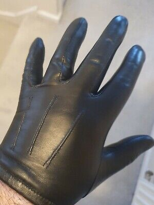 Real Thin Tight Leather Gloves Size 8.5 Unlined • 26£