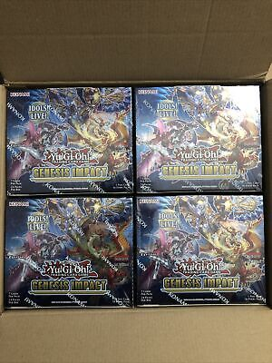 YuGiOh Genesis Impact Sealed Booster Box Of 24 Packs | New & Sealed TCG Cards • 55£