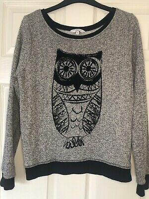 New Look Grey Owl Jumper - Size 14 • 2.50£