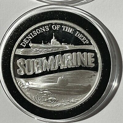 $59.99 • Buy Submarine Military Desert Storm 1 Troy Oz .999 Fine Silver Proof Coin Round 999